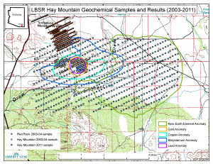 Hay Mtn geochem samples & results (2003-2011)