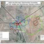 7. Hay Mtn geochem anomalies w/ drill targets and geochem sample locations