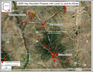 Hay Mtn property local Cu and Au mines