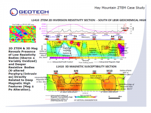 L1410 ZTEM 2D Inversion Resistivity Section Feb 2014